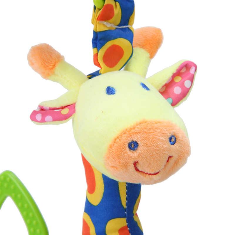 أفخم تنمية الطفل الرضيع لينة الزرافة الحيوان هاندبيلز خشخيشات مقبض اللعب الأكثر مبيعا مع عضاضة لعبة طفل