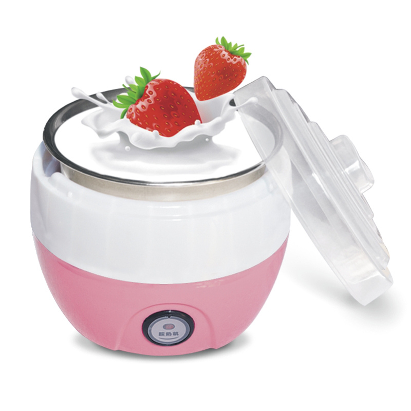 220V 1L Electric Yogurt Machine Stainless Steel liner Yogurt maker 3 Colors hot selling electric yogurt machine stainless steel liner mini automatic yogurt maker 1l capacity 220v