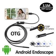 HD720P 2MPAndroid USB Endoscope Camera 3.5M 2M 1M Snake USB Inspection IP67 Waterproof Andorid Phone USB Borescope Camera 6LED