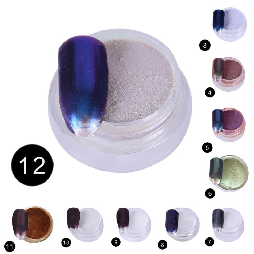 1PCS Nail Mirror Effect Powder Polishing for Nails Art Decoration Chrome Pigment Sequins goldsilver nail powder #