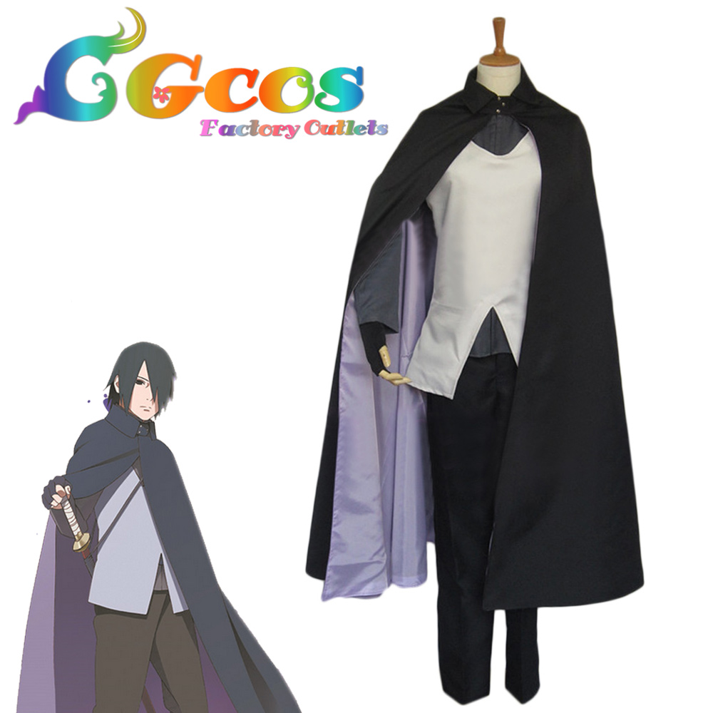CGCOS Free Shipping Cosplay Costume the Movie Uchiha Sasuke Uniform ...