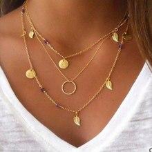 Новое модное ожерелье из перьев многослойное ожерелье женский летний подарок
