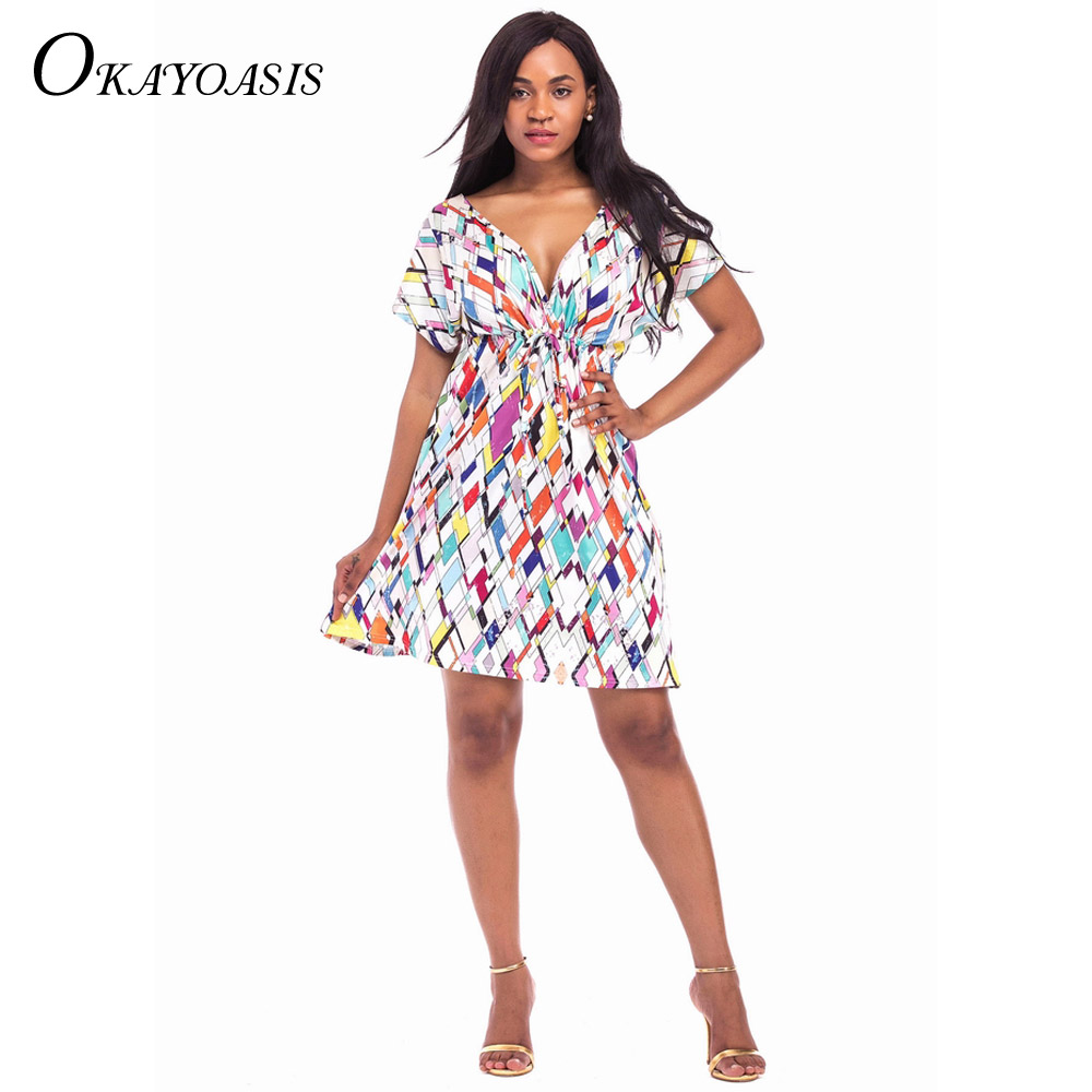 OKAYOASIS 2017 Spring Summer Women Vintage Ethnic Dress Brand Baroque Style  Floral Print Casual Beach Dress Boho Hippie Vestido-in Dresses from Women s  ... 8b7df6a1a0a2