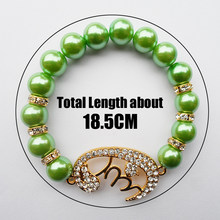 2019 new style green pearl Muslim mala prayer beads bracelets bangle jewellery(China)