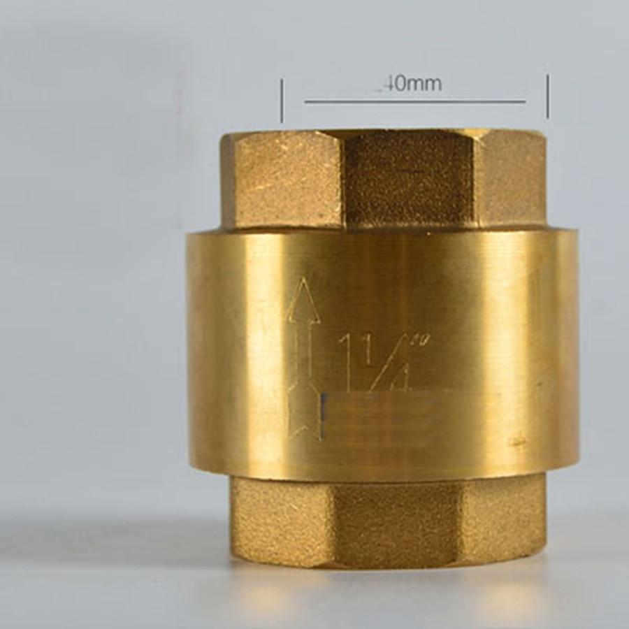 Heimwerker FleißIg Dn32 G 1-1/4 bspp Innengewinde Messing Frühling Überprüfen Ventil Eine Möglichkeit Thickneess 3,1mm Höhe 62mm Hell In Farbe