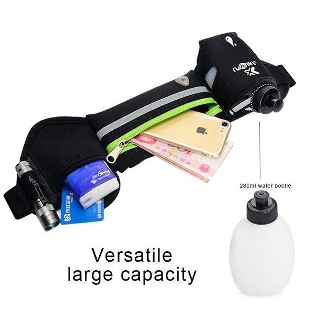 Outdoor Women&Men Hydration Belt For Trail Running Hip Waist Pack Gym Fitness Jogging Waist Bag Water Bottle Sport Accessories 4
