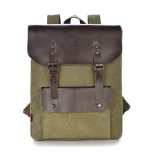2016 New korean Vintage Style Fashion Canvas Men and Women Casual Travel Hasp Backpack College School Teenage Student Backpacks