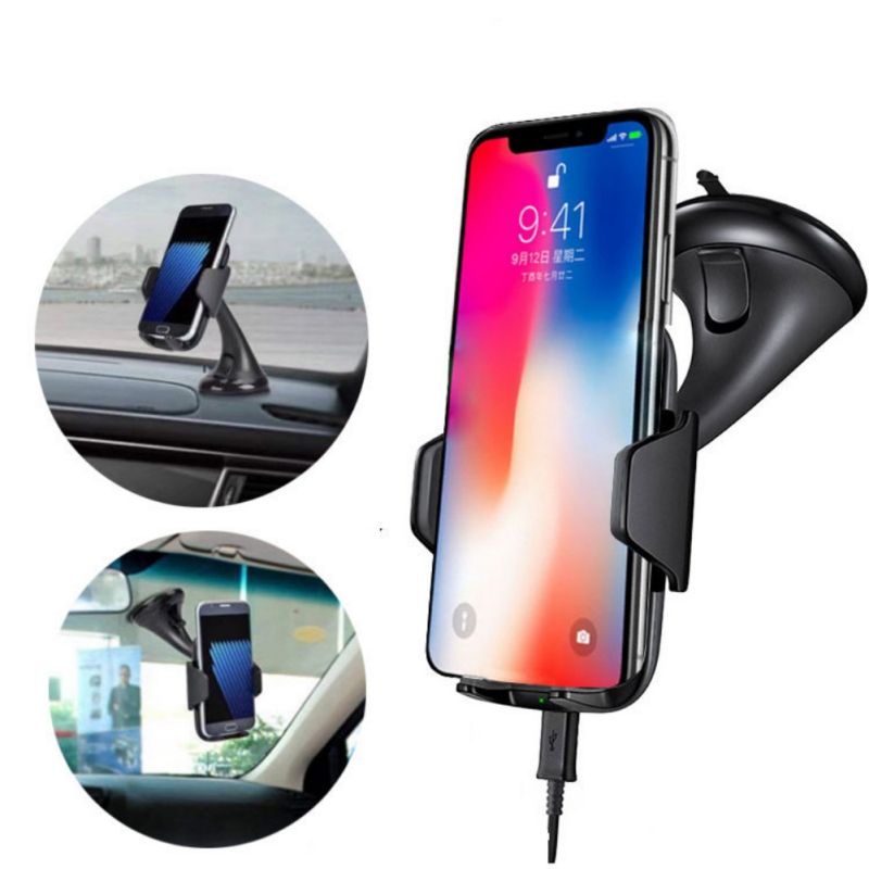 Car Mount Holder Qi Wireless Charger For IPhone 8 X