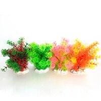 Decoração do aquário de Plástico Grama Artificial Plantas Decoração Paisagem Simulado Flor Requintado Cor Casa Ornamento do Tanque de Peixes