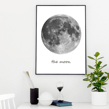 Modern Wall Art Canvas Painting Pictures For Living Room Nordic Decoration Moon Decor
