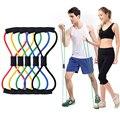 8 palabra cuerda de Fitness bandas de resistencia banda elástica para equipos de Fitness bandas de goma Expander ejercicio estiramiento