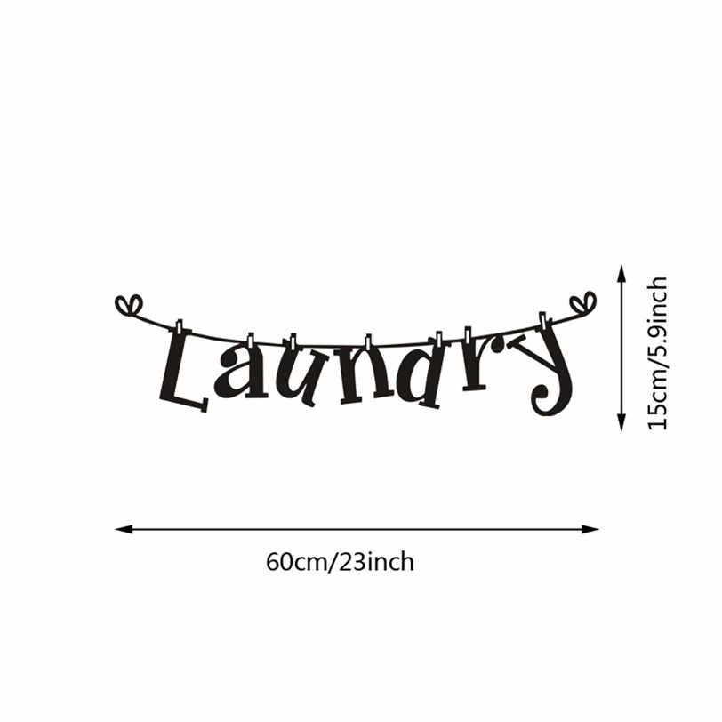 Pranie słowa naklejki ścienne winylowe wymienny naklejka ścienna do łazienki pralnia pokoju ściany dekoracyjne tapety 9J22