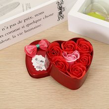Valentine's Day Present 2018 New Arrive 7pcs/box Soap Rose Valentine's Day Suprise Wedding Party Decoration Birth Day Gift(China)