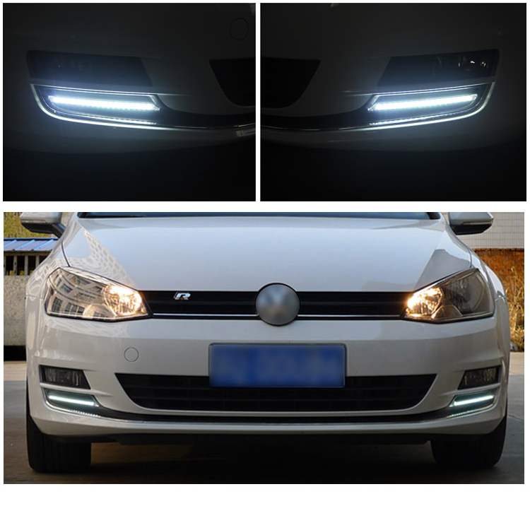 eOsuns LED DRL daytime running light for Volkswagen Golf 7 MK7 golf7, daylight with wireless switch control osmrk led drl daytime running light for volkswagen golf 7 vw mk7 top quality with wireless switch control