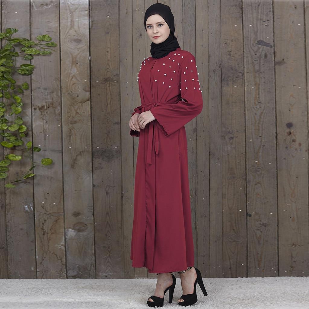 bf50a8485 Cheap Vestido musulmán abayas para las mujeres Ramadán turbante Dubai  frente abierto Abaya Kaftan las mujeres
