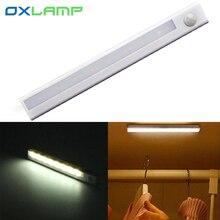 PIR Motion Sensor Ceiling Night Light Lamp Emergency Closet Cabinet Bedroom Decoration Lighting for Hallway Bathroom Aisle