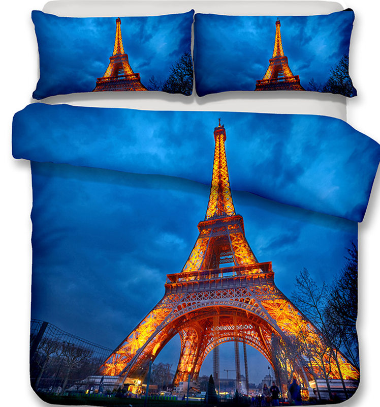 Paris Tower City view Bedding Set Mandala Quilt Cover Peace Design Bed Set  BedclothesParis Tower City view Bedding Set Mandala Quilt Cover Peace Design Bed Set  Bedclothes