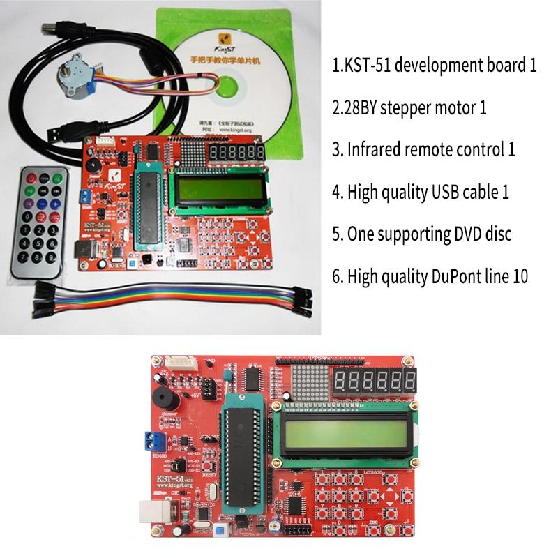 KST-51 Microcontroller Development Board MCU Experiment Board 51 MCU Learning Board KitKST-51 Microcontroller Development Board MCU Experiment Board 51 MCU Learning Board Kit