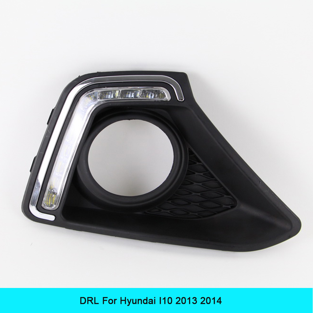 Car DRL kit for Hyundai I10 I20  2014 2013 LED Daytime Running Light super bright
