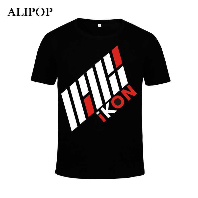 KPOP moda coreana Ikon Bobby SOLO álbum holup CERT concierto algodón camiseta K-POP camisetas camiseta Tops PT220