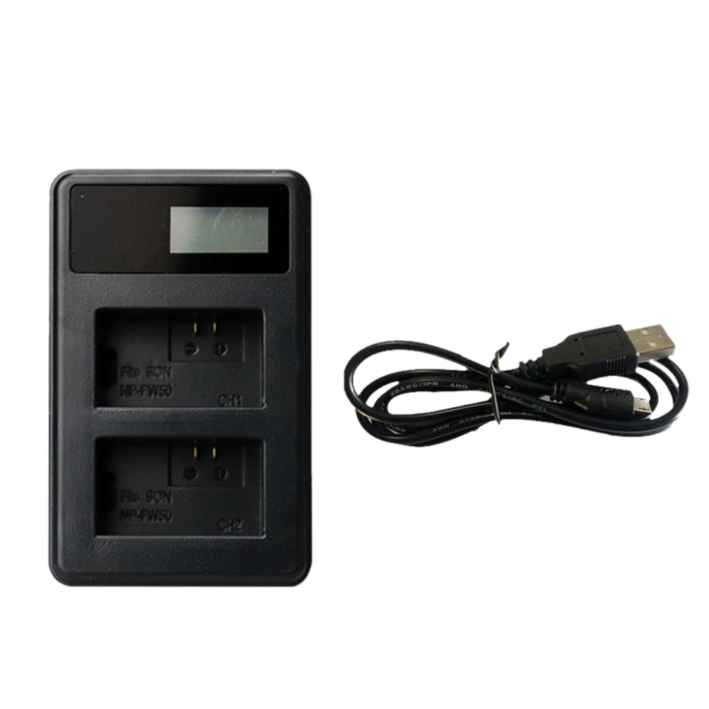 Charging Station Li-ion Charge Dock <font><b>NP</b></font>-<font><b>FW50</b></font> <font><b>NP</b></font> <font><b>FW50</b></font> Digital Camera <font><b>Battery</b></font> Charger for <font><b>SONY</b></font> Alpha A7 A7R A7S A5000 A6000 Power image