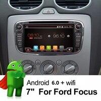 2 Din 7 Inch Car DVD Player Android 6.0 Cho FORD/Focus/S-MAX/Mondeo/C-MAX/Galaxy Quad Core Wifi GPS Navigation Đài Phát Thanh FM USB