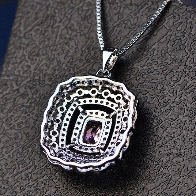 S925 Gioielli In Argento Sterling Collane Pendenti Per Le Donne Temperamento Elegante Topaz Variopinto Diamant Collana Fine Jewelry Colar