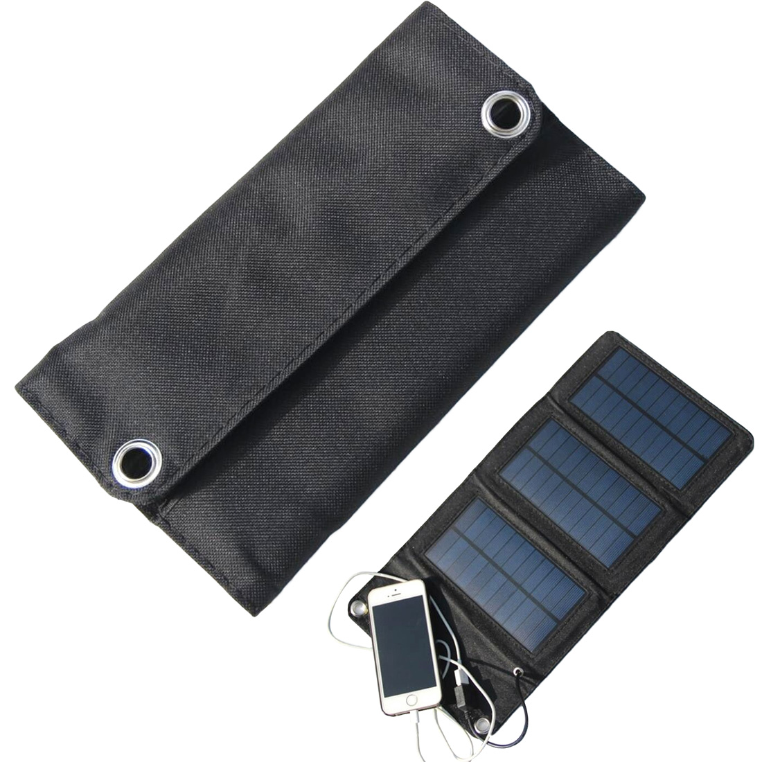 5W 5V Portable Solar Panel Mobile phone Charger DIY Polysilicon Foldable Solar USB Battery Chargers Solar Power Bank Charger