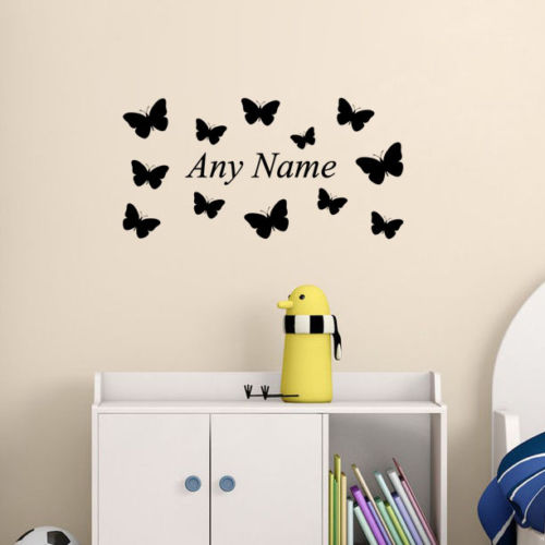 personalized name butterflies your name vinyl wall sticker removable