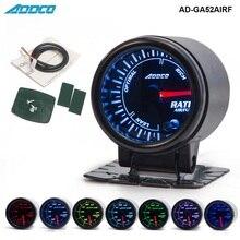 """Авто """" 52 мм 7 цветов светодиодный индикатор дымового лица для автомобиля автоматический датчик соотношения воздушного топлива с держателем автомобильный измеритель AD-GA52AIRF"""