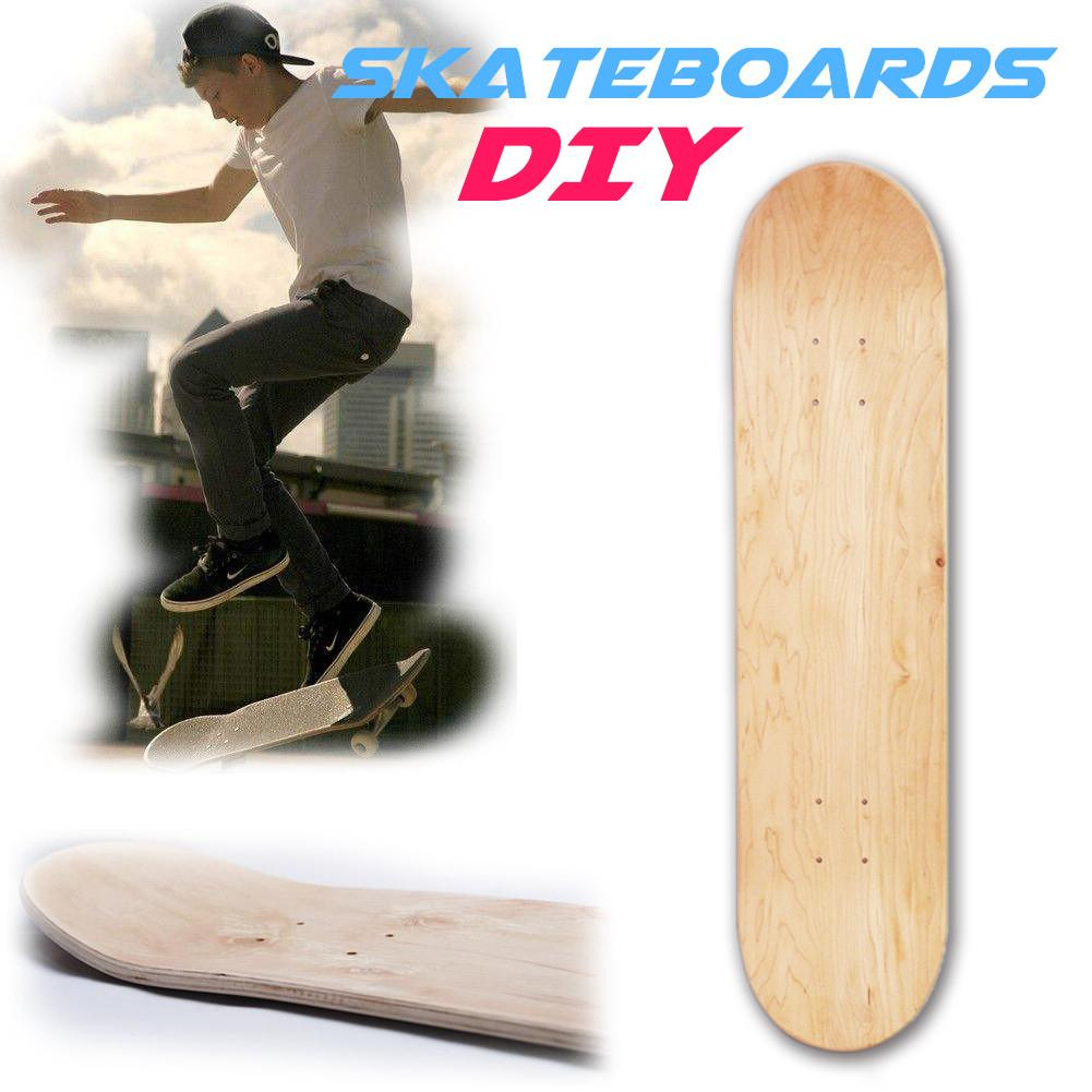 Outdoor Accessories 8 Inch 8-Layer Maple Blank Double Concave Skateboards Natural Skate Deck Board Skateboards Deck Wood Maple