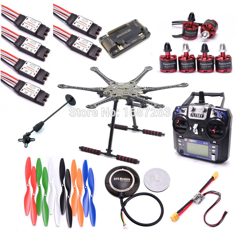 S550 F550 500mm Upgrade Hexacopter APM 2.8 7M GPS Power Moudle 2212 motor 30A Simonk ESC 1045 Prop Super combo Flysky I6 FS i6-in Parts & Accessories from Toys & Hobbies    1