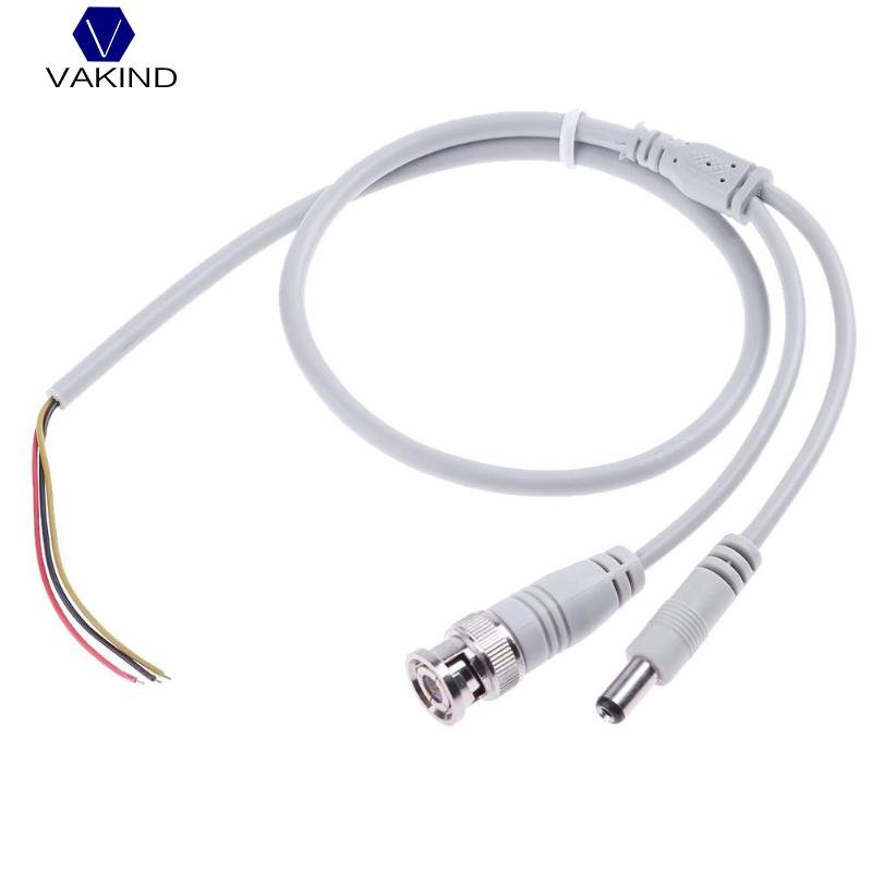 VAKIND 60cm DC Male Adapter+BNC 3Pin Wire Male Connector Cable Radio Frequency Jump Cable For Security Camera 3m bnc male to bnc male cable for surveillance camera black