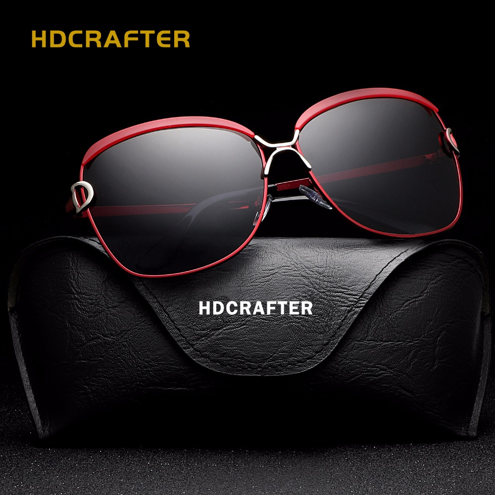 d51b8da6936785 HDCRAFTER Womens Sunglasses Polarized Elegant Star Style Luxury Lunette  Polarisantes Femme Gafas De Sol With Case Wholesale-in Sunglasses from  Women s ...