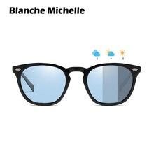 Blanche Michelle TR90 Chameleon Sunglasses Men Polarized UV400 Photochromic Sun Glasses Women Driving gafas de sol With Box