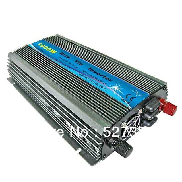 1000w New Grid Tie Inverter on grid System DC 12V/18V to AC 220V/110v+10% For Solar panel Pure Sine Wave MPPT Universal plug