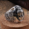 Handmade 925 Silver Tibetan Sakyamuni Buddha Ring