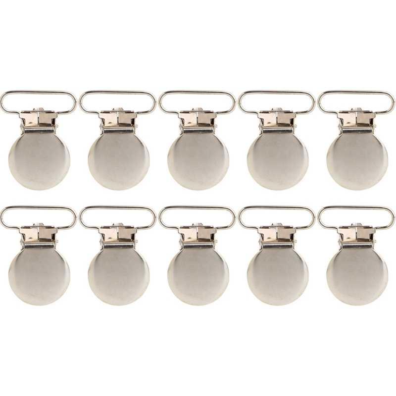 10Pcs Baby Infant Metal Clips Pacifier Holders Shape Alloy Suspender Hook