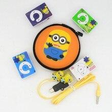 Yhyzjl Гадкий я Миньоны мультфильм аниме форме Card Reader MP3 музыкальный плеер с наушниками кабеля и упаковки