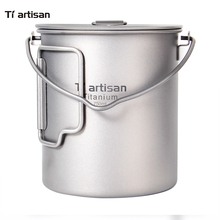 Tiartisan Home & Garden Cooking Pot 750ml Titanium Hanging Ultralight Cookware with Lid
