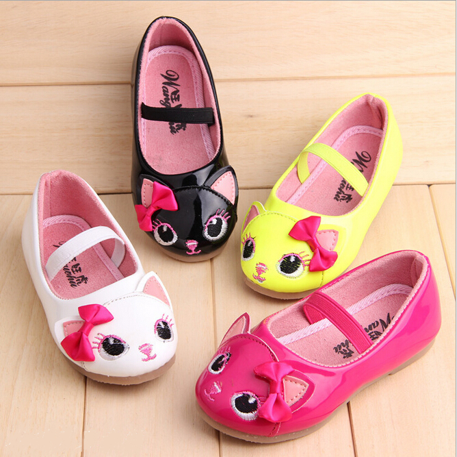 Kids Girls Princess Fox Cat Causal Sneakers Toddler Slip