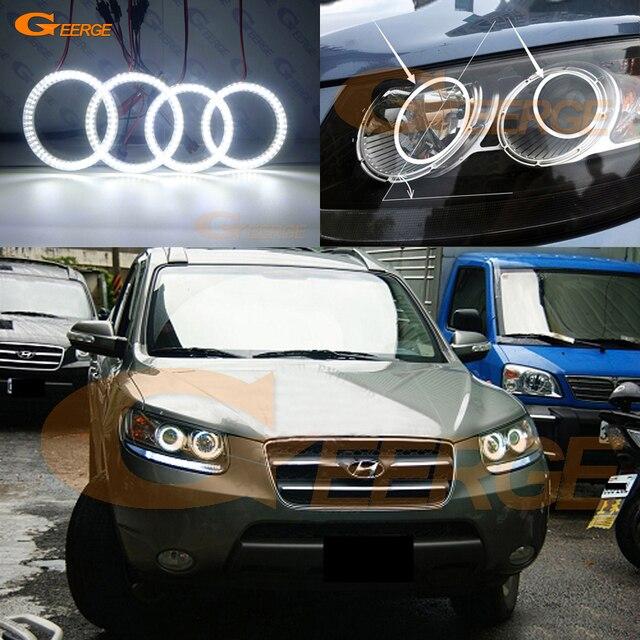 Para Hyundai Santa Fe Santafe 2007 2008 2009 2010 2011 2012 Excelente Smd  Led Angel Eyes
