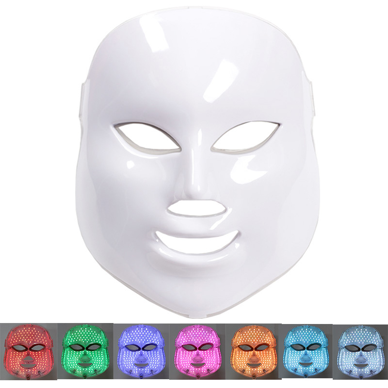 7 Colors Beauty Therapy Photon LED Facial Mask Light Skin Care tools Rejuvenation Wrinkle Acne Removal