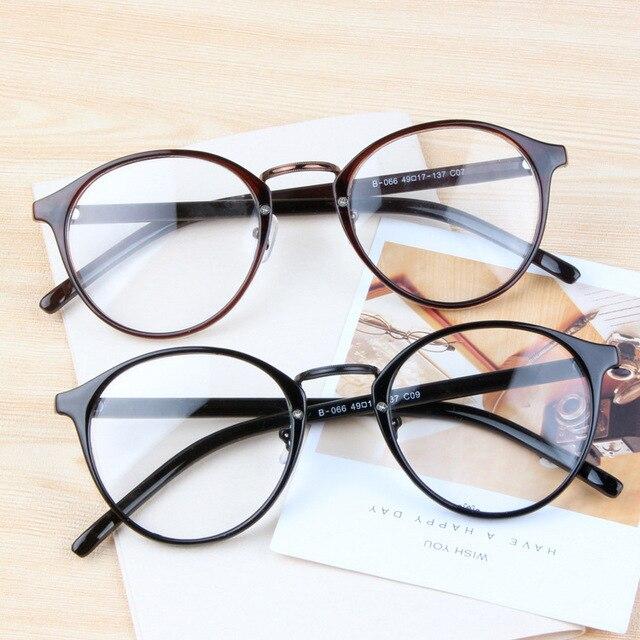 New 2016 Women Retro Eyeglasses Optical Fashion Round Plain Glass