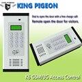 Puerta de Control de Acceso del Sistema de Alarma GSM 850/900/1800/1900 MHz Pantalla LCD 1000 Número Autorizado Puerta abridor de Tarjeta RFID SMS Texto K6