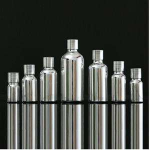 Image 4 - 5ML 30ML 100ML Silber Glas Ätherisches Öl Dropper Flasche Kosmetische Verpackung Serum Lotion Pumpe Spray Zerstäuber Fläschchen 15 stücke