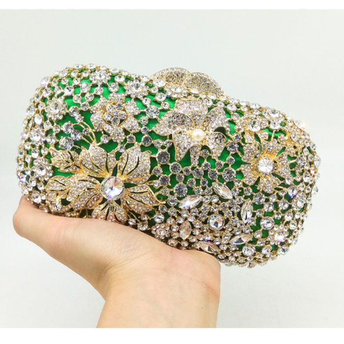 Woman Evening bag Women pink Clutch bags Crystal Day Clutch Wallet bling bride Wedding Party handbag chain shoulder bag greenWoman Evening bag Women pink Clutch bags Crystal Day Clutch Wallet bling bride Wedding Party handbag chain shoulder bag green