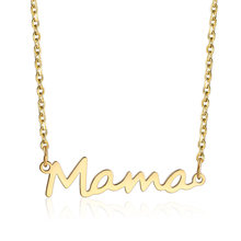 New Fashion Gold Mama Letter Stainless Steel Necklace Luxury Gold Chain Necklace For Women Fashion Jewelry Gifts 2019(China)