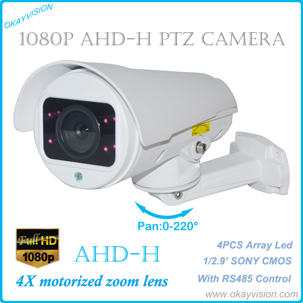 4X Motorized Zoom Lens Full HD 1080P 2.0MP AHD Color IR PTZ Bullet Camera 4X PTZ Bullet Camera,AHD2.0 AHD-H PTZ Bullet Camera factory price for ahd ptz bullet camera 10x motorized zoom lens full hd 1080p 2 0mp ir range 30m ptz rs485 pelco d p support