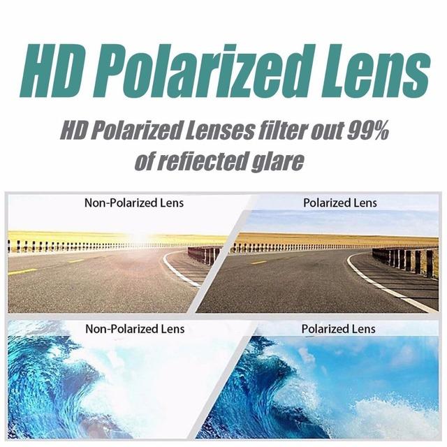 Gafas de sol redondas polarizadas para hombres y mujeres